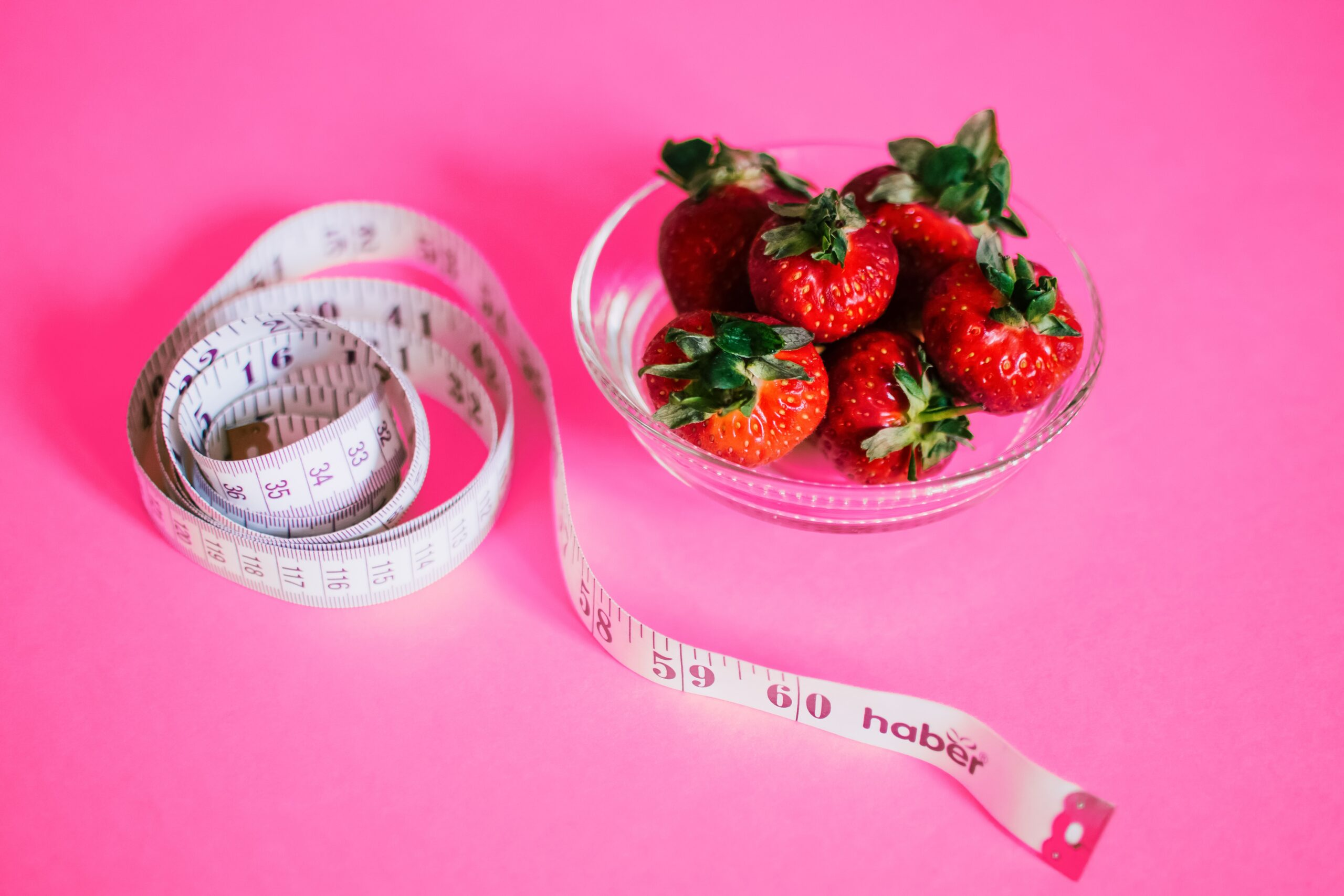Strawberries and tape measure